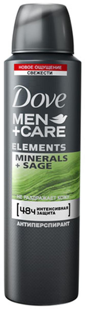 """Dove Men+Care антиперспирант аэрозоль """"Свежесть минералов и шалфея"""", 150 мл"""