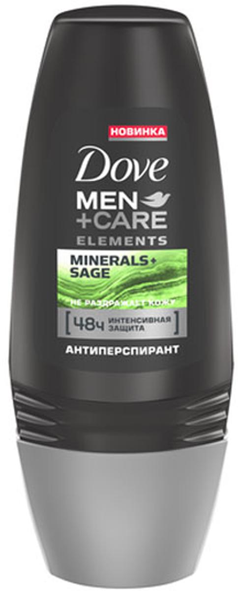 Dove Men+Care антиперспирант ролл Свежесть минералов и шалфея, 50 мл dove men care антиперспирант аэрозоль экстразащита и уход 150 мл