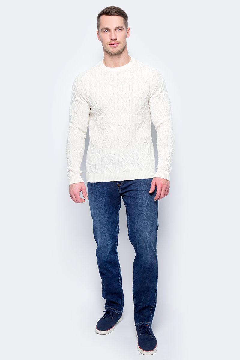Свитер муж United Colors of Benetton, цвет: белый. 1076U1E59_600. Размер S (46/48)1076U1E59_600