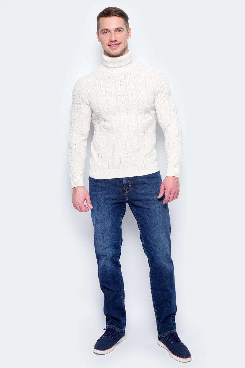 Водолазка мужская United Colors of Benetton, цвет: белый. 1076U2215_600. Размер S (46/48)1076U2215_600Водолазка мужская United Colors of Benetton выполнена из акрила и шерсти. Модель с воротником гольф и длинными рукавами.