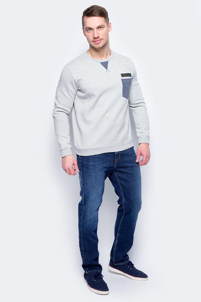 Свитер муж United Colors of Benetton, цвет: серый. 3VH1J1G27_501. Размер XL (52/54)3VH1J1G27_501