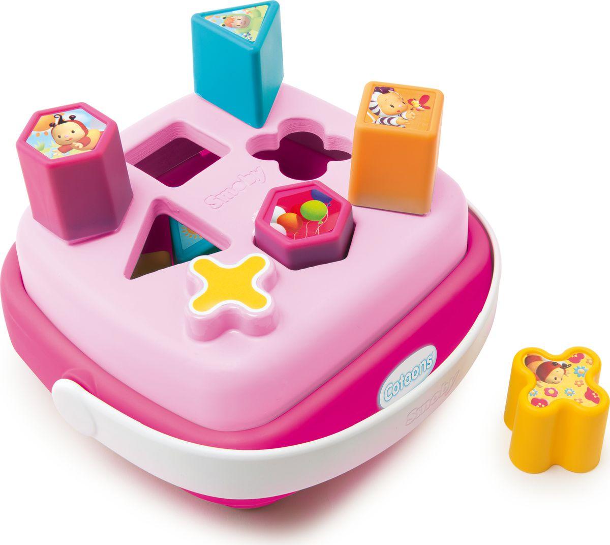 Smoby Сортер Корзинка Cotoons цвет розовый cotoons пирамидка цвета в ассорт с 12 мес