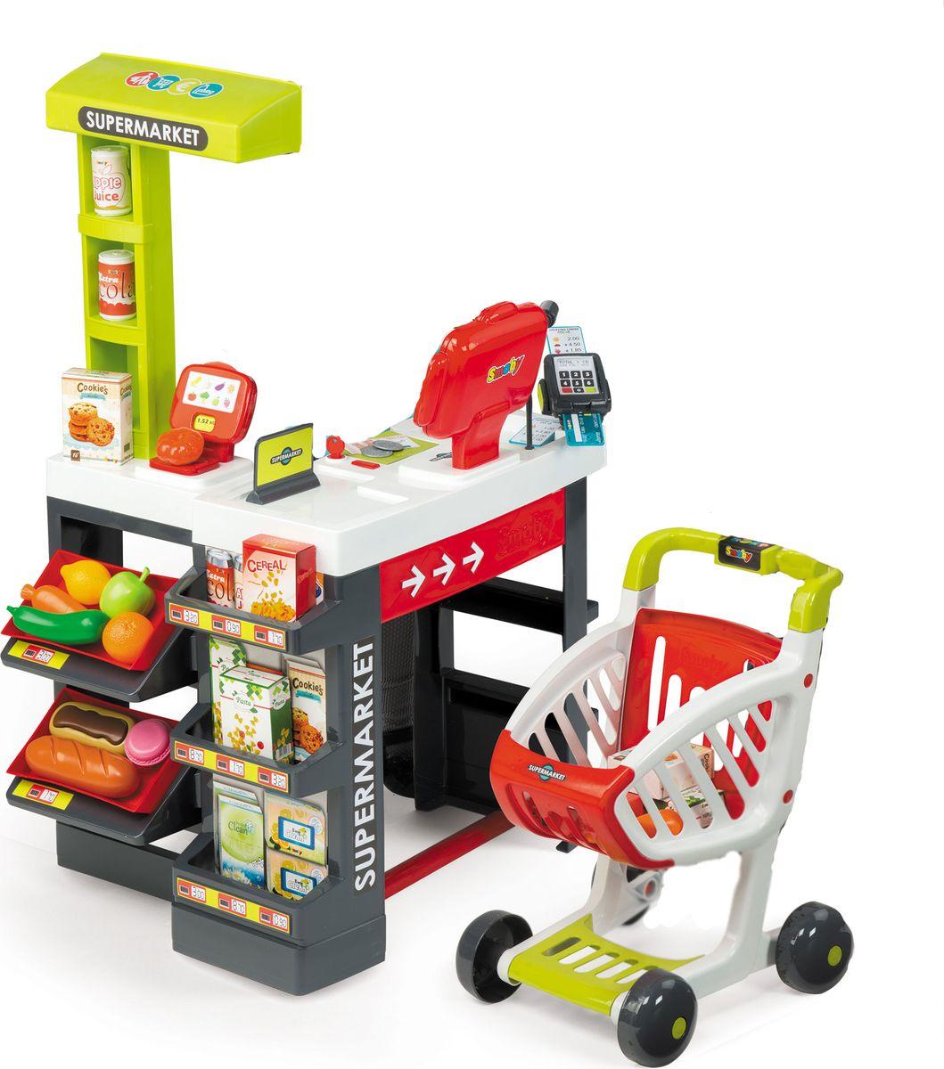 Smoby Игровой набор Супермаркет с тележкой 41 предмет - Сюжетно-ролевые игрушки