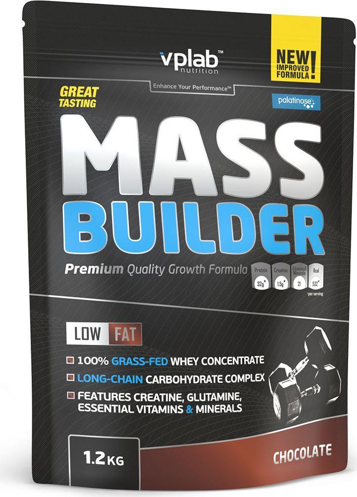 Гейнер VPLab Mass Builder, шоколад, 1,2 кгVP54520Гейнер VPLab Mass Builder уникальная смесь углеводов и белков, содержащая витамины,минеральные вещества, микроэлементы и креатиндля построения мышечной массы, с рекордно низким содержанием жиров.Превосходная двухкомпонентная протеиновая матрица с относительно высокимсодержанием глютамина и BCAA способствует восстановлению иросту мышц в течение длительного времени. Многоступенчатый карбо-комплекс,включающий сложные углеводы и пребиотики - оптимальноерешение для снабжения энергией и наилучшего усвоения. Помимо этого, Mass Builderобогащен 10 витаминами и премиум креатином отCreapure, что значительным образом улучшит результативность тренировок. Питательная ценность на 100 г: энергетическая ценность - 372 ккал (1,581 кдж), белки - 19,2г, из которых BCAA - 3,6 г, углеводы - 71,6 г, изкоторых сахара - 33 г, из которых мальтодекстрин - 34 г, жиры - 0,4 г, из них насыщенныежирные кислоты - 0,2 г, пищевые волокна - 1,9 г, натрий -0,330 г, моногидрат креатина - 1,5 г.Товар не является лекарственным средством. Товар не рекомендован для лиц младше 18лет. Могут быть противопоказания и следуетпредварительно проконсультироваться со специалистом.Рекомендации по применению: 100 г порошка на 300 мл маложирного молока или 300 млводы. 1 порция в день после тренировки.Товар сертифицирован.Какповысить эффективность тренировок с помощьюспортивного питания? Статья OZON Гид