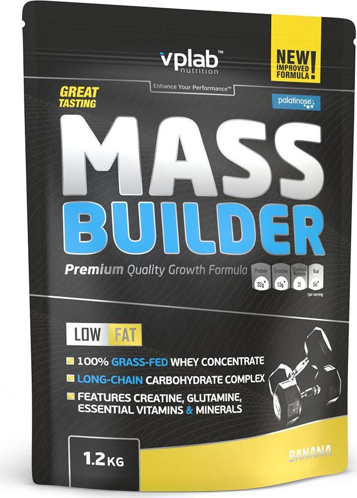 Гейнер VPLab Mass Builder, банан, 1,2 кгVP55046Гейнер VPLab Mass Builder уникальная смесь углеводов и белков, содержащая витамины, минеральные вещества, микроэлементы и креатиндля построения мышечной массы, с рекордно низким содержанием жиров.Превосходная двухкомпонентная протеиновая матрица с относительно высоким содержанием глютамина и BCAA способствует восстановлению иросту мышц в течение длительного времени. Многоступенчатый карбо-комплекс, включающий сложные углеводы и пребиотики - оптимальноерешение для снабжения энергией и наилучшего усвоения. Помимо этого, Mass Builder обогащен 10 витаминами и премиум креатином отCreapure, что значительным образом улучшит результативность тренировок. Питательная ценность на 100 г: энергетическая ценность - 372 ккал (1,581 кдж), белки - 19,2 г, из которых BCAA - 3,6 г, углеводы - 71,6 г, изкоторых сахара - 33 г, из которых мальтодекстрин - 34 г, жиры - 0,4 г, из них насыщенные жирные кислоты - 0,2 г, пищевые волокна - 1,9 г, натрий -0,330 г, моногидрат креатина - 1,5 г.Товар не является лекарственным средством. Товар не рекомендован для лиц младше 18 лет. Могут быть противопоказания и следуетпредварительно проконсультироваться со специалистом.Рекомендации по применению: 100 г порошка на 300 мл маложирного молока или 300 мл воды. 1 порция в день после тренировки.Товар сертифицирован. Как повысить эффективность тренировок с помощьюспортивного питания? Статья OZON Гид