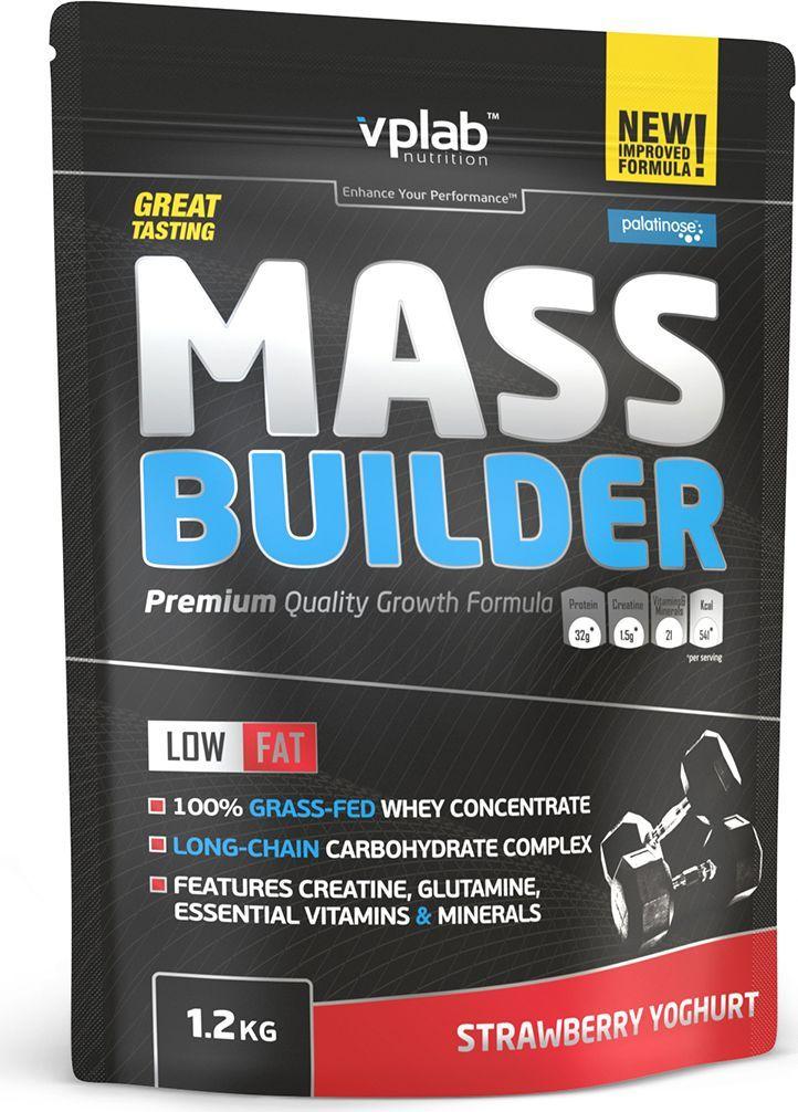 Гейнер VPLab Mass Builder, клубника, 1,2 кгVP55084Гейнер VPLab Mass Builder уникальная смесь углеводов и белков, содержащая витамины, минеральные вещества, микроэлементы и креатиндля построения мышечной массы, с рекордно низким содержанием жиров.Превосходная двухкомпонентная протеиновая матрица с относительно высоким содержанием глютамина и BCAA способствует восстановлению иросту мышц в течение длительного времени. Многоступенчатый карбо-комплекс, включающий сложные углеводы и пребиотики - оптимальноерешение для снабжения энергией и наилучшего усвоения. Помимо этого, Mass Builder обогащен 10 витаминами и премиум креатином отCreapure, что значительным образом улучшит результативность тренировок. Питательная ценность на 100 г: энергетическая ценность - 372 ккал (1,581 кдж), белки - 19,2 г, из которых BCAA - 3,6 г, углеводы - 71,6 г, изкоторых сахара - 33 г, из которых мальтодекстрин - 34 г, жиры - 0,4 г, из них насыщенные жирные кислоты - 0,2 г, пищевые волокна - 1,9 г, натрий -0,330 г, моногидрат креатина - 1,5 г.Товар не является лекарственным средством. Товар не рекомендован для лиц младше 18 лет. Могут быть противопоказания и следуетпредварительно проконсультироваться со специалистом.Рекомендации по применению: 100 г порошка на 300 мл маложирного молока или 300 мл воды. 1 порция в день после тренировки.Товар сертифицирован.Как повысить эффективность тренировок с помощьюспортивного питания? Статья OZON Гид