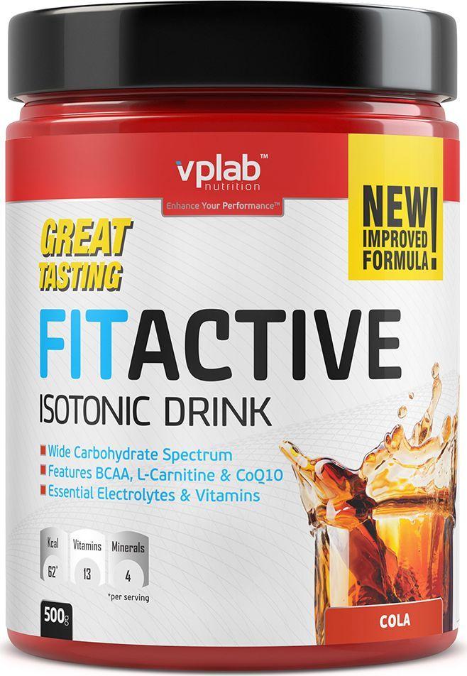 """Изотоник Vplab """"FitActive"""", кола, 500 г, VP Laboratory"""