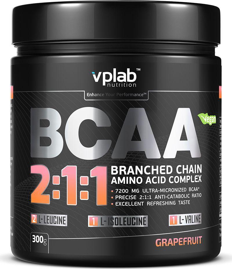 Аминокислотный комплекс Vplab BCAA 2:1:1, грейпфрут, 300 г