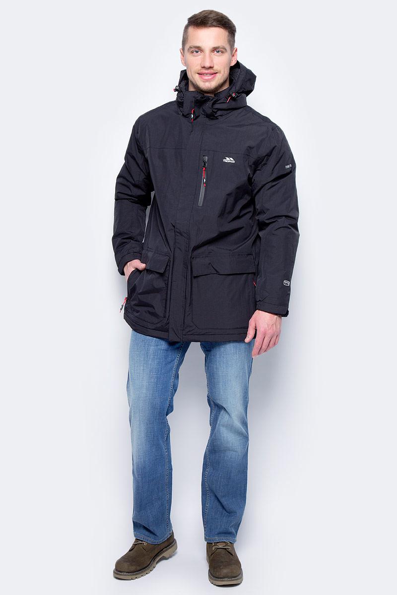 Куртка мужская Trespass Gandale, цвет: черный. MAJKRAM20001. Размер 2XL (56)MAJKRAM20001Великолепная утепленная куртка Trespass Gandale выполнена из полиэстера. Модель с длинными рукавами и съемным капюшоном застегивается на застежку-молнию спереди. Модель имеет ветрозащитный клапан на липучках. По бокам накладные карманы. Прекрасно подойдет как для города, так и для отдыха на природе.