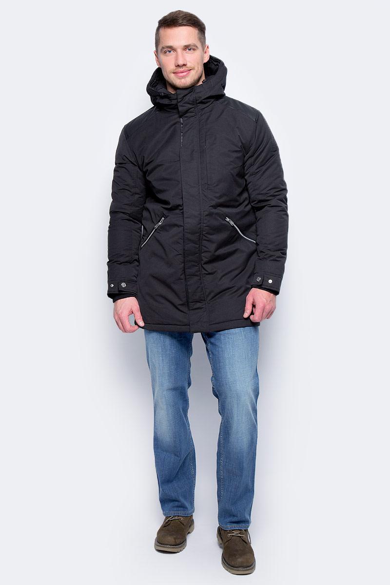 Куртка муж Jack & Jones, цвет: черный. 12124262_Black. Размер S (44)12124262_Black