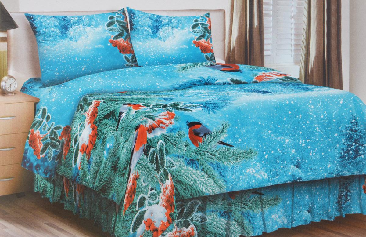 Комплект белья Letto Традиция, 1,5-спальный, наволочки 70x70, цвет: голубой. В208-3В208-3Комплект постельного белья Letto Традиция выполнен из качественного натурального хлопка. Комплект состоит из пододеяльника на молнии, простыни и двух наволочек. Постельное белье, оформленное ярким изображением снегирей , имеет изысканный внешний вид. Пододеяльник снабжен молнией.Благодаря такому комплекту постельного белья вы сможете создать атмосферу роскоши и романтики в вашей спальне.Ткань комплекта плотная (125гр/м), используются современные устойчивые красители. Традиционная российская бязь выгодно отличается от импортных аналогов по цене, при том, что сама ткань и толще, меньше сминается и служит намного дольше. Рекомендуется перед первым использованием постирать, но не пересушивать. Применение кондиционера при стирке сделает такое постельное белье мягче и комфортней.Обращаем внимание, что расцветка наволочек может отличаться от представленной на фото.