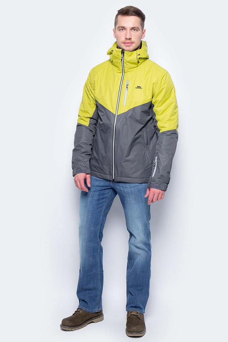 Куртка для сноуборда мужская Trespass Hidey, цвет: серый, желтый. MAJKSKM20009. Размер M (50)MAJKSKM20009Мужская куртка для сноуборда Trespass Hidey выполнена из полиэстера. Модель с длинными рукавами и несъемным капюшоном застегивается на застежку-молнию спереди. Изделие дополнено четырьмя втачными карманами на застежках-молниях. Рукава дополнены эластичными резинками на манжетах, а также хлястиками с липучками, которые позволяют регулировать обхват манжет.