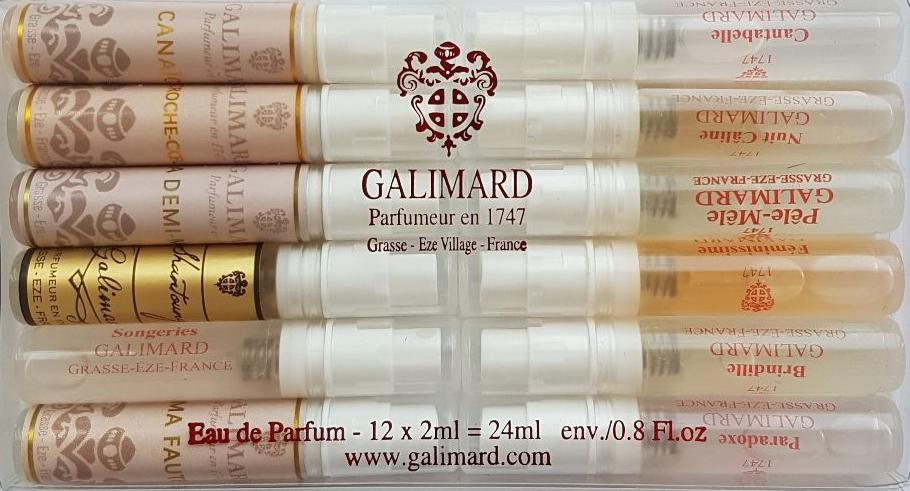 Galimard Набор женской парфюмерной воды, 12 х 2 млgjnm12