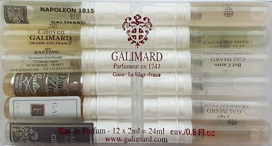 Galimard Набор мужской парфюмерной воды, 12 х 2 мл