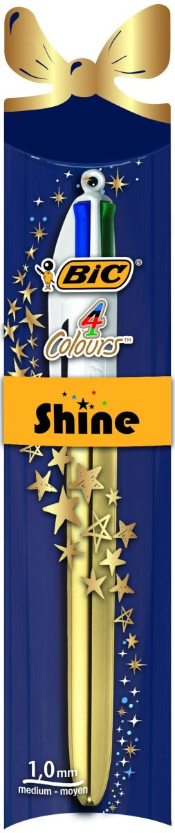 Bic Ручка шариковая 4 Colours Shine Новогодняя -  Ручки