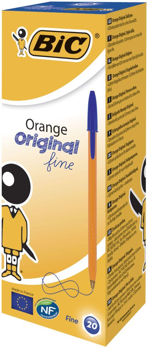 Bic Ручка шариковая Orange Fine цвет синийB8099221Ручка Orange - пожалуй, самая востребованная ручка в мире! Тонкая линия письма, яркий корпус и пишущий узел с уменьшенным шариком обеспечивают неповторимый комфорт письма. Сертифицировано эко-статусом NF Environment. Цвет колпачка и задней защелки соответствует цвету чернил.