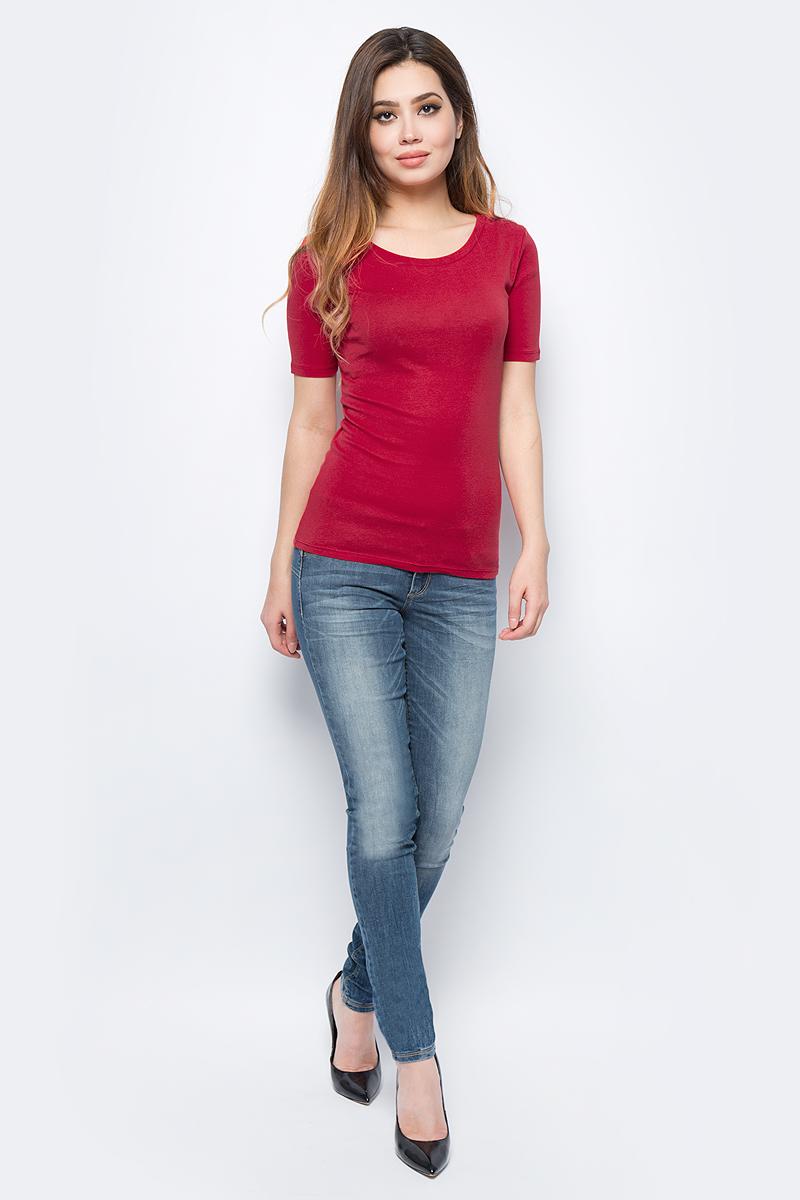 Майка жен United Colors of Benetton, цвет: красный. 3GA2E1G21_21L. Размер S (42/44)3GA2E1G21_21L