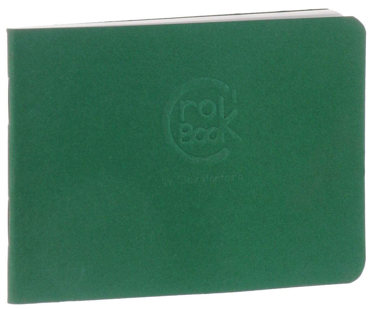 Блокнот Clairefontaine Crok Book, цвет: зеленый, формат A7, 24 листа6035С_зеленыйБлокнот Clairefontaine Crok Book, цвет: зеленый, формат A7, 24 листа