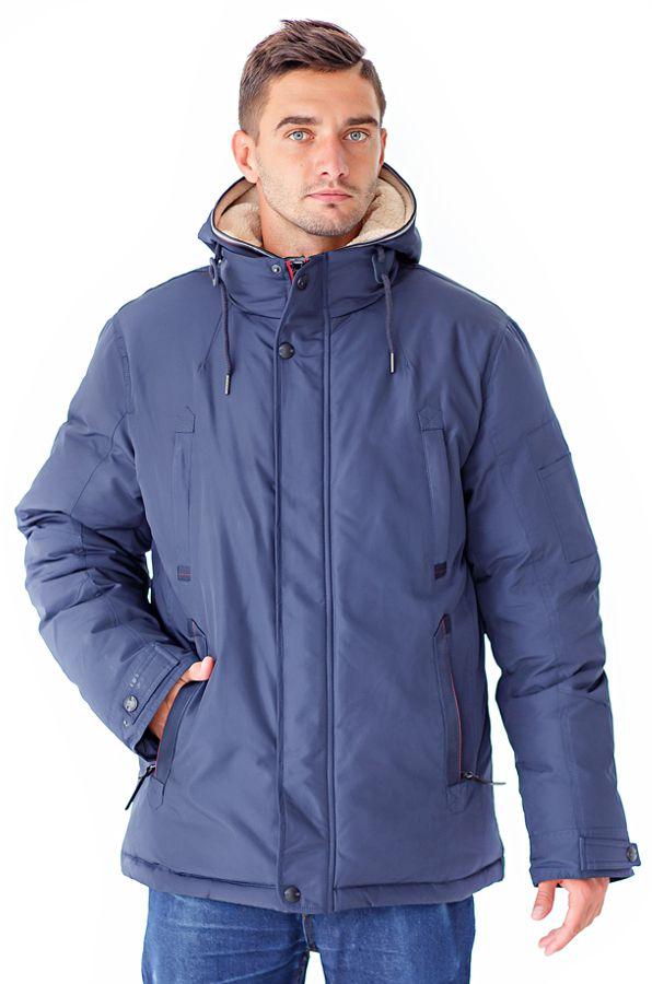 Куртка мужская Defreeze, цвет: синий. 61-826_d.navy. Размер 4861-826_d.navyУдобная зимняя куртка DEFREEZE выполнена из нейлона. В качестве утеплителя используется био-пух, выдерживающий значительные морозы. Модель застегивается на молнию, которая дополнена ветрозащитной планкой на кнопках. Куртка имеет несколько удобных карманов, капюшон и воротник-стойку. Капюшон и часть подкладка по длине молнии отделаны искусственной овчиной для дополнительной защиты от холода.