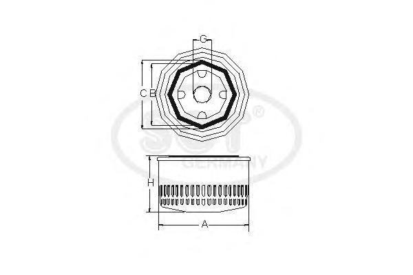 Масляный фильтр HYUNDAI SOLARIS /KIA RIO III/CEED 12-/SPORTAGE 10-/SORENTO II 12- 1.4-2.4SM125