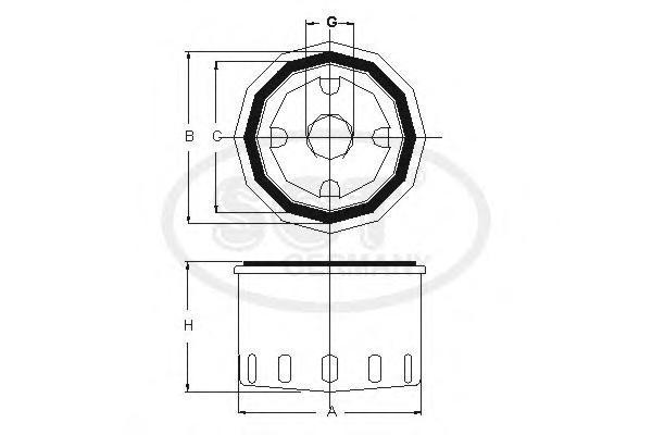 Масляный фильтр ALFA ROMEO?A-R 145/155/166SM158
