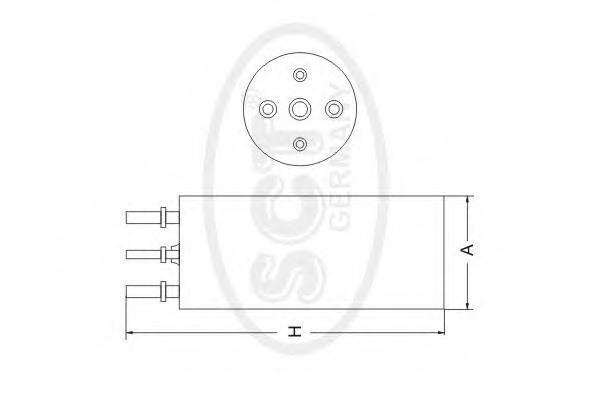 Топливный фильтр VW T5/TOUAREG DST6081