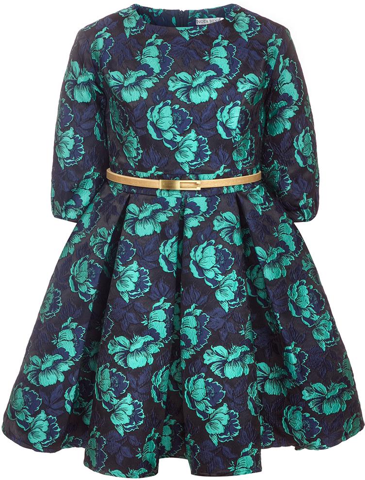 Платье для девочки Nota Bene, цвет: бирюзовый. 17421130422. Размер 140 платье tutto bene tutto bene tu009ewzwn18