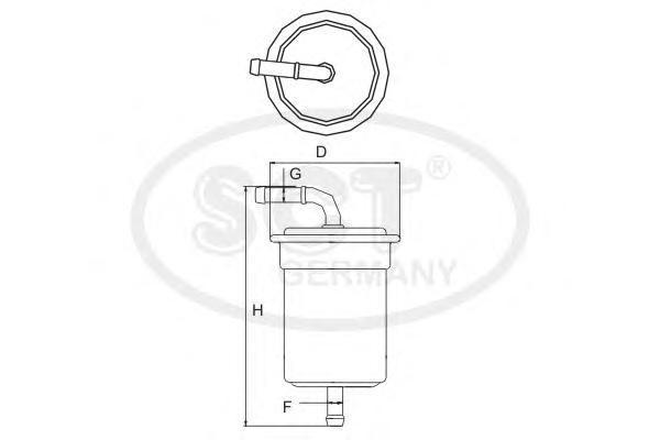 Топливный фильтр TOYOTA?LAND CRUISER 100/120 4.0ST713