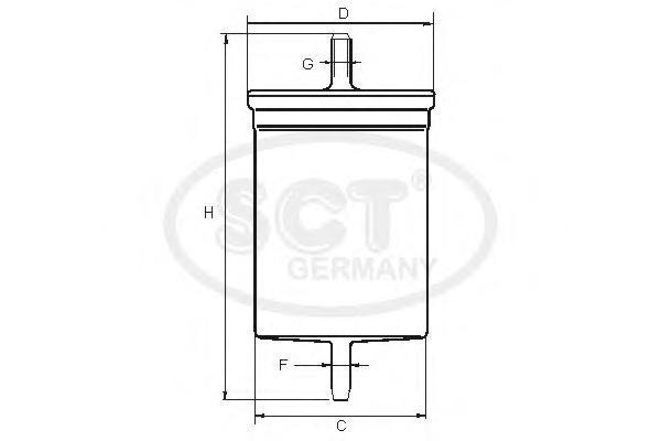 Топливный фильтр UAZ HUNTER/PATRIOT 2.7 04-/VW G4/T5 SKODA OCTAVIA 96-10ST374