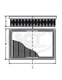 Воздушный фильтр RENAULT LOGAN/SANDERO/LARGUS 1.6/1.4 (8 VALVE) 12-SB2294