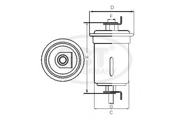 Топливный фильтр TOYOTA?CAMRY V20 96-01/AVENSIS 97-03ST762
