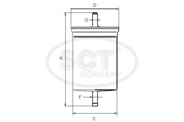 Топливный фильтр RENAULT MEGANE I 1.4-2.0 93-03/HYUNDAI SANTA FE I 2.0/2.4/2.7 01-06ST393