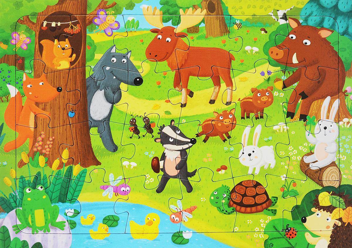 Лесные животные. Пазл игнатова а лесные животные