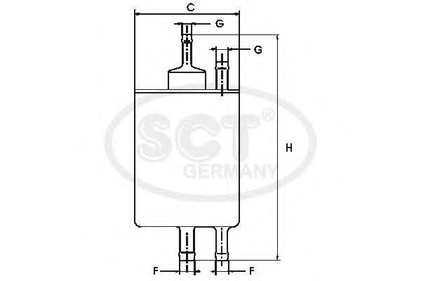 Топливный фильтр MERCEDES?W210/W202/W203/W220ST711
