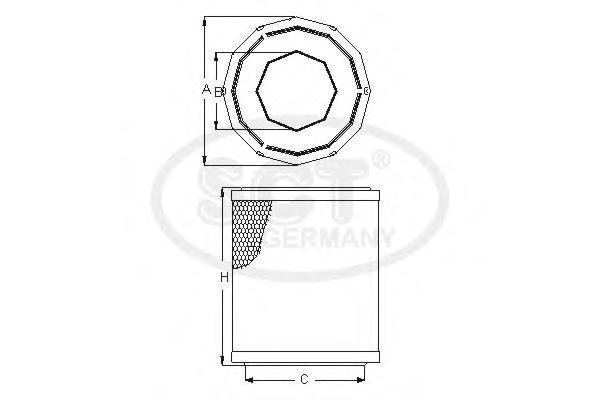 Воздушный фильтр VW TRANSPORTER IV 90-03SB256
