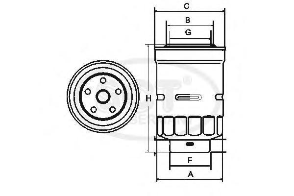Топливный фильтр MAZDA CX-5/CX-7 2.2D 12-/MITS PAJERO IV 3.2D 07-/TOY LAND CRUISER 120 3.0D 02-ST306