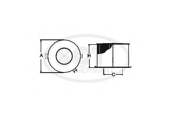 Воздушный фильтр VAG 1.2-2.0 03-SB2138