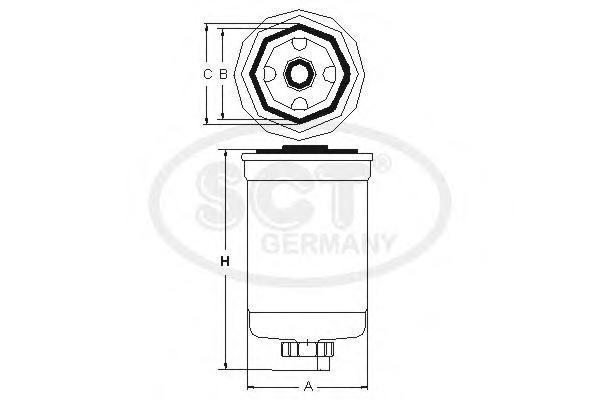 Топливный фильтр LAND ROVER DISCOVERY III/IV/RANGE ROVER SPORT 2.7D/3.0D 04-/09-/12-ST6082