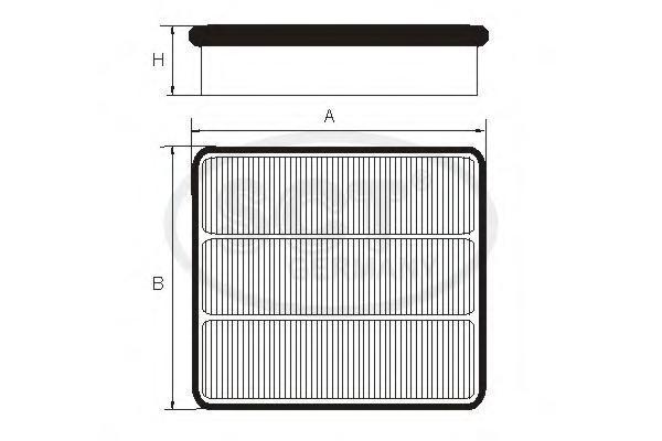 Воздушный фильтр MITS LANCER 1.3/1.6/2.0 -03/03-/OUTLANDER II 2.0 06-12SB939