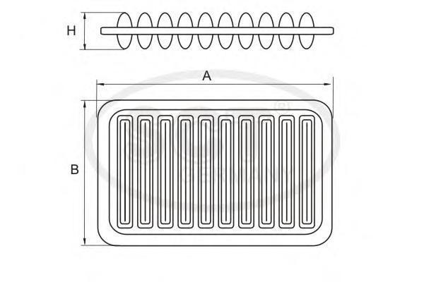 Воздушный фильтр TOYOTA AVENSIS 1.6-2.4 00-09/COROLLA (E12) 1.4-1.8 02-09SB3250