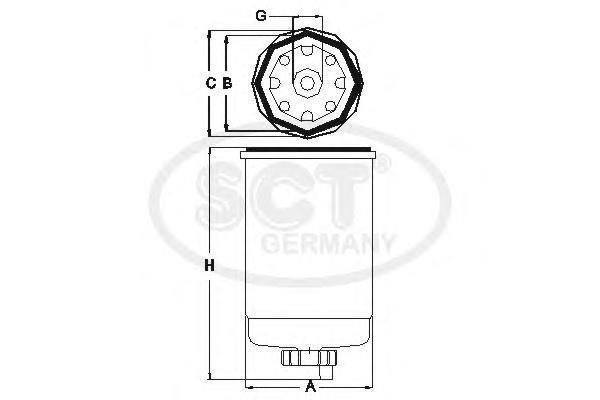 Топливный фильтр FORD?TRANSIT 2.5 D -00ST317