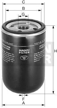 Топливный фильтр CASE CONSTRUCTION 500-Serie,WK9165X