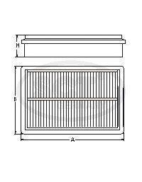 Воздушный фильтр CHEVROLET AVEO (T250/T255) 1.2/1.4/1.5 05-/08-SB2116