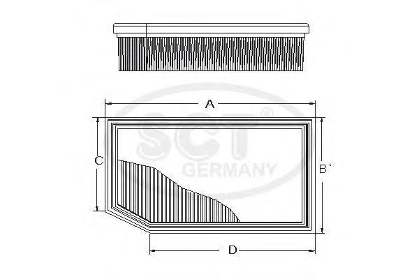 Фильтр воздушный BMW E60 2.0-3.0 03-SB2177