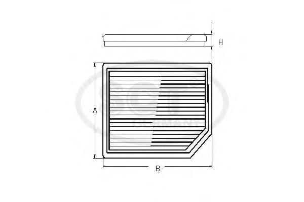 Салонный фильтр CHEVROLET?LANOS /NUBIRA 97-SA1187