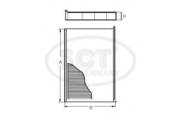 Салонный фильтр FORD FOCUS II 04-11/S40 II 04-SA1164