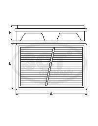 Воздушный фильтр HYUNDAI TUCSON/KIA SPORTAGE 2.0/2.0D/2.7 04-/08-SB2190