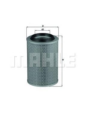Фильтр воздушный MB W460 2.3/2.4D/2.5D/2.9D/3.0D 79-93LX46