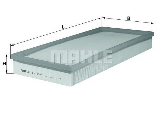 Фильтр воздушный MERCEDES W169/W245 1,6-2,0CDI 04- ->LX1004