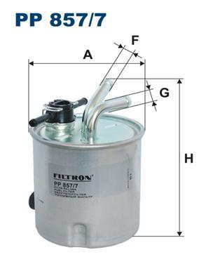 Фильтр топливный с датчиком уровня воды\Nissan Pathfinder/Navara 2.5DCI 05> Nissan Navara, PathfinderPP8577